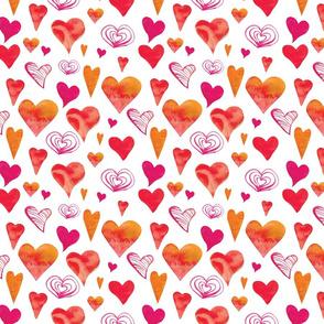 Valentines heart pattern