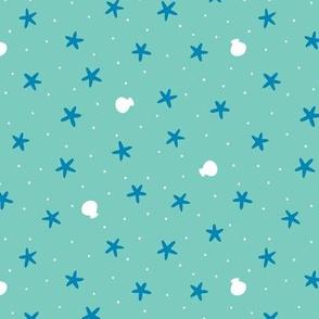 Seaside Starfish Confetti Blue