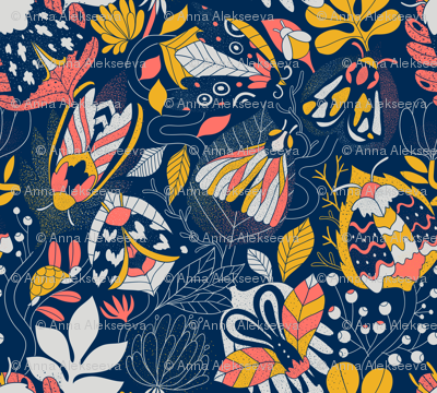 moths_pattern_limited_color_pallette