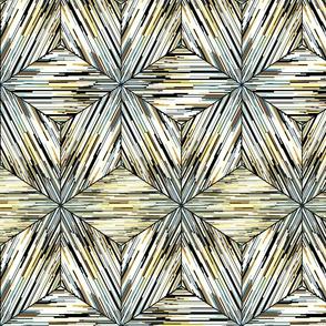 Oriental geometric ikat pattern.