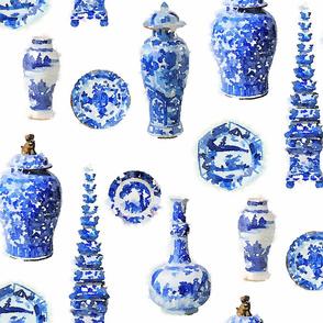 Blue and White Ceramic Study