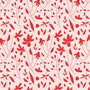 Red and Pink Botanical