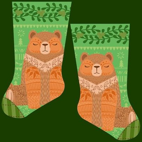 Mini woodland bear stocking