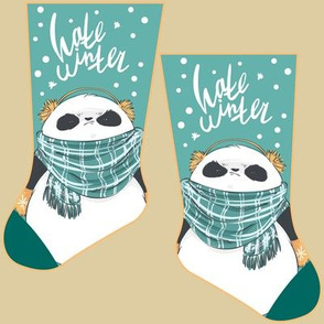Mini grumpy panda stocking