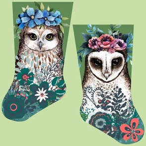 Mini owl stocking