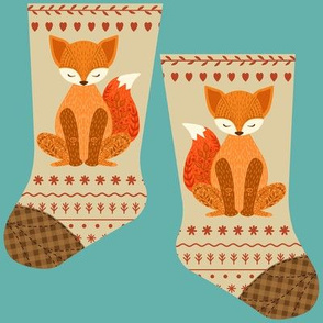 Mini red fox stocking