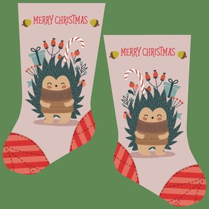 Mini hedgehog stocking
