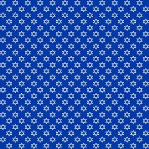 Quarter Inch White Star of David on Blue