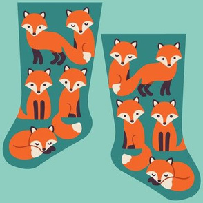 Mini woodland fox stocking