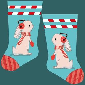 Mini bunny stocking