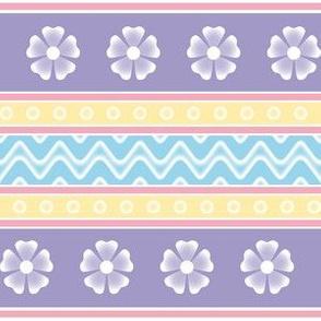 easter pattern in lavender
