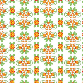 Colorful Floral Folk Pattern