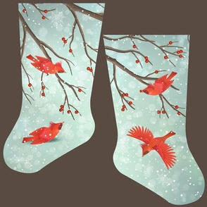 Mini cardinal birds stocking