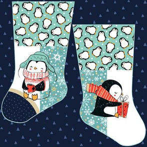 Mini penguin stocking