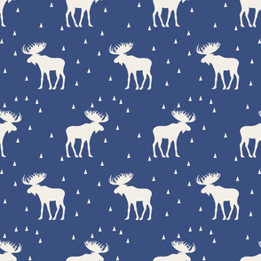 Moose Rows - Blue