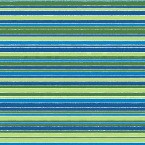 striped green & blue