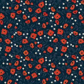 "Nouveau Poppy Garden { 12""x12""pattern square }"