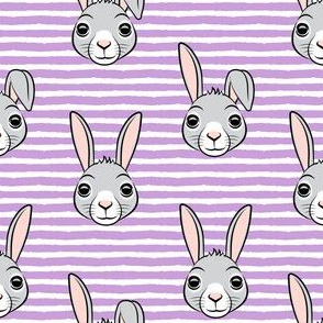 easter bunny - purple stripes - bunnies LAD19
