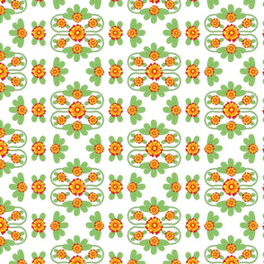 Bright Floral Folk Pattern