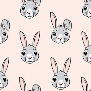 easter bunny - pink - bunnies LAD19