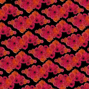 Squiggly Floral on Black