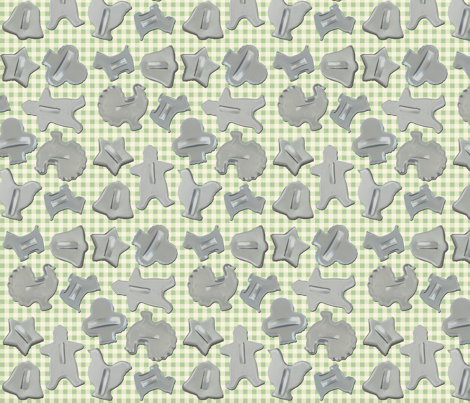Cookie Cutter green fabric by heidikenney on Spoonflower - custom fabric