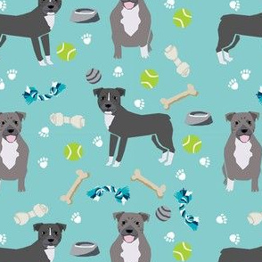 pitbull toys fabric - dog toys fabric, pitbulls fabric, cute dog fabric - pitbulls fabric
