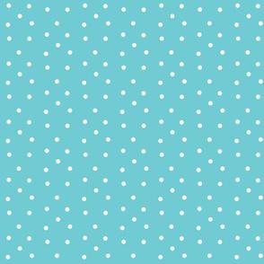 Polka Dots-turquoise/white