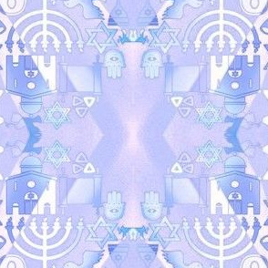 Jewish Symbols - Blues and Grays
