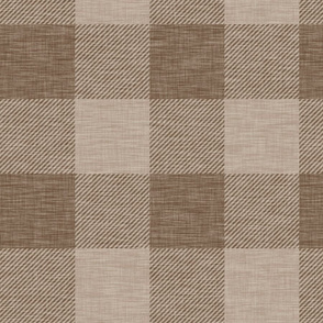 "4"" Textured Buffalo Plaid - Nutmeg"