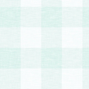 XL Buffalo check - mint - plaid wallpaper