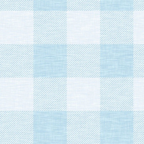 XL Buffalo Check - Sky Blue - Wallpaper