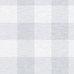 XL Buffalo Check - Pale Grey - Plaid - Wallpaper