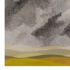 Stormy prairie sky panel