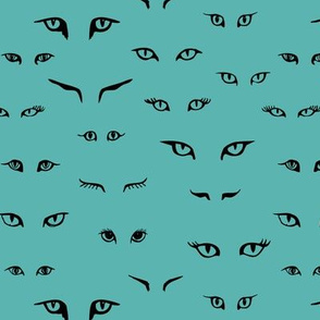 Cat eyes - stormy blue