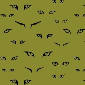 Wild Cat Eyes: olive