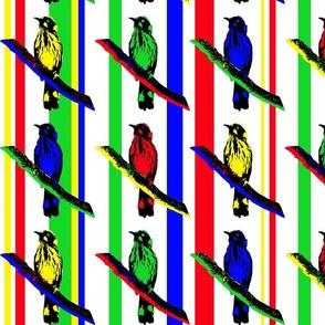 Birds on Branches - Mondrian