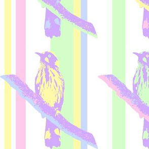 Birds on Branches - Pastel