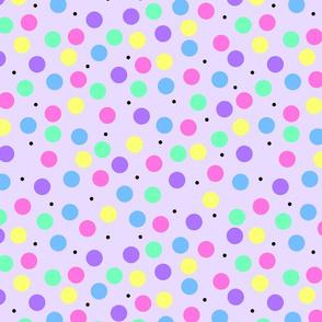 Party Spots on Purple