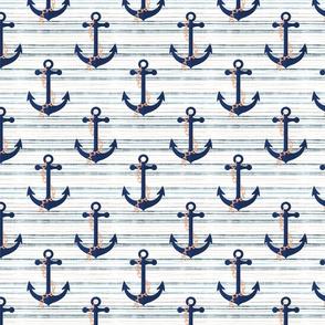 Marine pattern. Anchors.