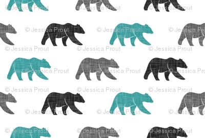 multi bears - dark teal, black, grey C19BS