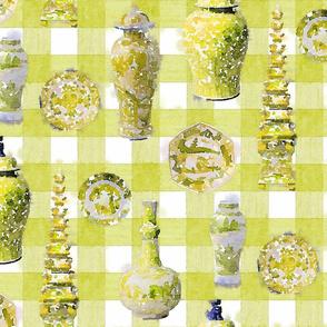 LARGE TONAL CERAMIC Citrus PLAID