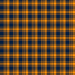 (small scale) Plaid || The great outdoors - navy and orange C19BS