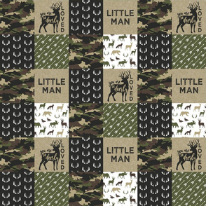 "(3"" small scale) Little Man - Woodland wholecloth - C2 camouflage C19BS"