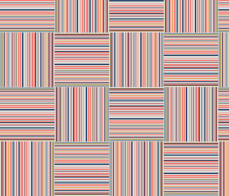 striped squares  fabric by variable on Spoonflower - custom fabric