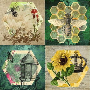 Sweet Honey Bee Patchwork