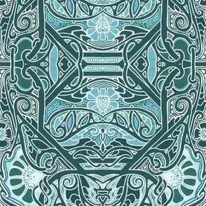 Boldly Blooming Teal