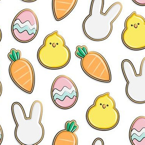 Easter Cutout Cookies - white - LAD19