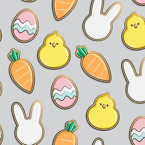 Easter Cutout Cookies - grey - LAD19