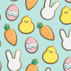 Easter Cutout Cookies - aqua - LAD19